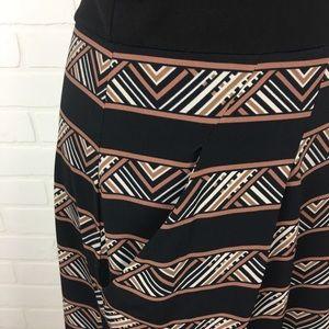 BCBGMaxAzria Dresses - BCBG MaxAzria Sleeveless Black,Brown & Taupe Dress